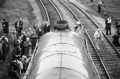 Clapham Junction North Yorkshire 25th May 1981 (loose_grip_99) Tags: uk railroad chimney england train blackwhite noiretblanc yorkshire engine photographers railway steam 1981 locomotive railtour clapham boiler enthusiasts britishrailways lner northyorkshireman uksteam gassteam kylchap