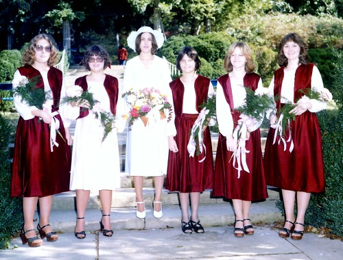 My Mom Getting Married to My Dad : Bride & Bridesmaids - Old Scan http://flic.kr/p/8wwDiQ