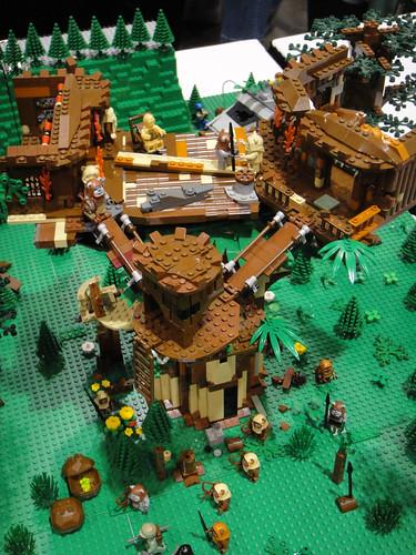 Star wars celebration v lego diorama endor ewok village