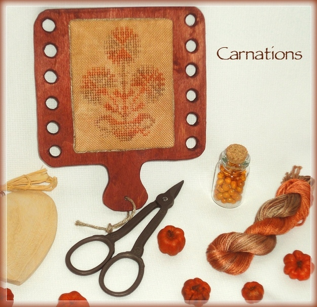 Carnations_32ct_kit by Barbi Hababann and Nina