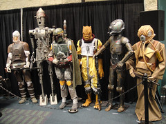 Star Wars Celebration V - 501st room - bounty hunter costumes (Pop Culture Geek) Tags: starwars costume orlando florida 5 celebration v convention 501st bobafett fl ig88 bossk 4lom dengar zuckuss bountyhunters