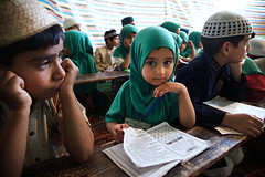 Girl in madrasah - Srinagar, India (Maciej Dakowicz) Tags: school portrait people india girl children person asia child madrasah muslim islam faith religion hijab mosque kashmir srinagar jammuandkashmir