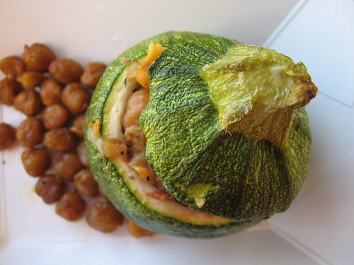 stuffed squash with roasted chick peas