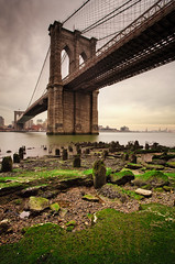 The Brooklyn Bridge (chris lazzery) Tags: newyorkcity newyork brooklynbridge eastriver 5d canonef1740mmf4l bw30nd