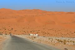 The Desert - Explore (TARIQ-M) Tags: road texture car landscape sand waves desert dunes tent camel riyadh saudiarabia hdr الصحراء الرياض صحراء خيمة رمال جمل ابل رمل canonef70200mmf4lusm خيام طعوس طعس نياق المملكةالعربيةالسعودية canon400d الرمل ناقة خطوط نفود الرمال كثبان تموجات تموج نفد