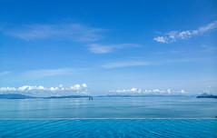 Blue, blue and blue (dominiquesainthilaire) Tags: iphone thailande thailand kohyaoyai santhiya resort hotel luxe view vue swimmingpool piscine bleu blue sea mer andaman karstique rocks rochers luxury water eau acqua worldtrekker