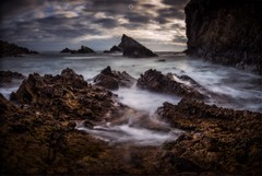 Vivid Vortex (Augmented Reality Images (Getty Contributor)) Tags: canon cliffs clouds colours landscape leefilters littlestopper longexposure morayfirth morning portknockie rocks scotland water waves