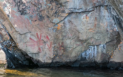 Pictograph - Mazinaw Rock (Jay:Dee) Tags: topw toronto photo walks camp camping trip bon echo provincial park nature mazinaw rock pictograph