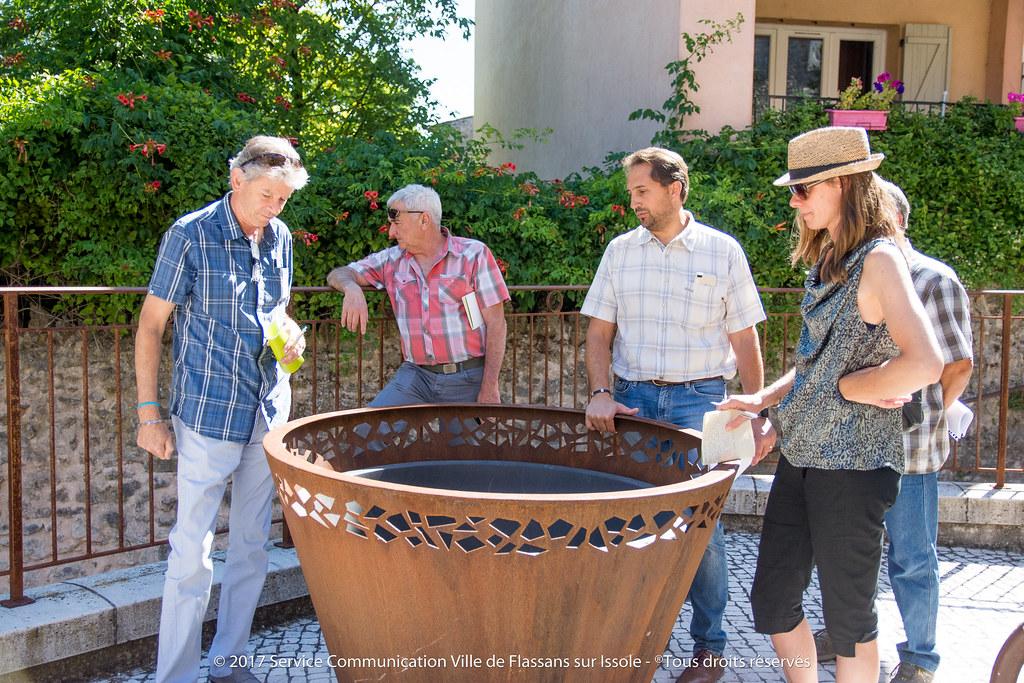 Visite du jury des Villes et Villages Fleuris