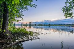 Peaceful Sunset (VorsprungDurchTechnik) Tags: reflection sunset river landscape water peaceful rivieredesprairies coucher soleil soir riviere paisible eau paysage d700 20mm 18g