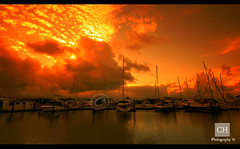 Sunset - Port Douglas (charithra Hettiarachchi) Tags: sunset sea water marina boats australia queensland portdouglas sigma1020mm charithrahettiarachchi canoneos7d