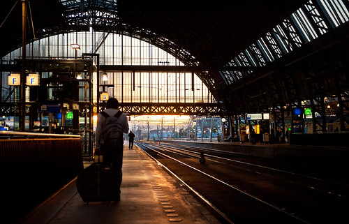 Platform 5, Friday evening, Amsterdam Central