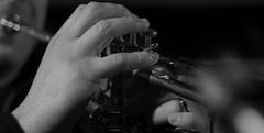 Sapienti mani (ritch97x) Tags: canon eos 50mm trumpet mani matrimonio biancoenero tromba musicista sanroccoapilli