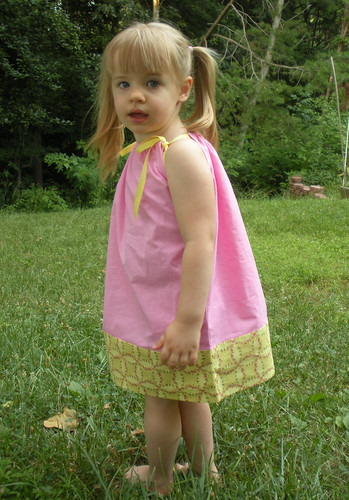 pillowcase dress pink with yellow flowers (1)