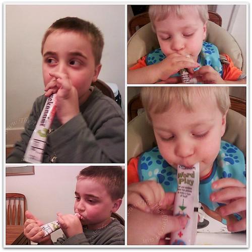 Taste testing Simply Go Gurt
