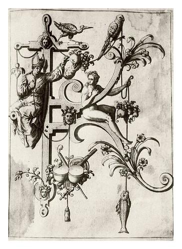 011-Letra K- La iglesia-Neiw Kunstliches Alphabet 1595- Johann Theodor de Bry