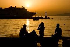sunset (MarinaMagri) Tags: sunset sea backlight ship greece grecia cyclades mykonos littlevenice controluce
