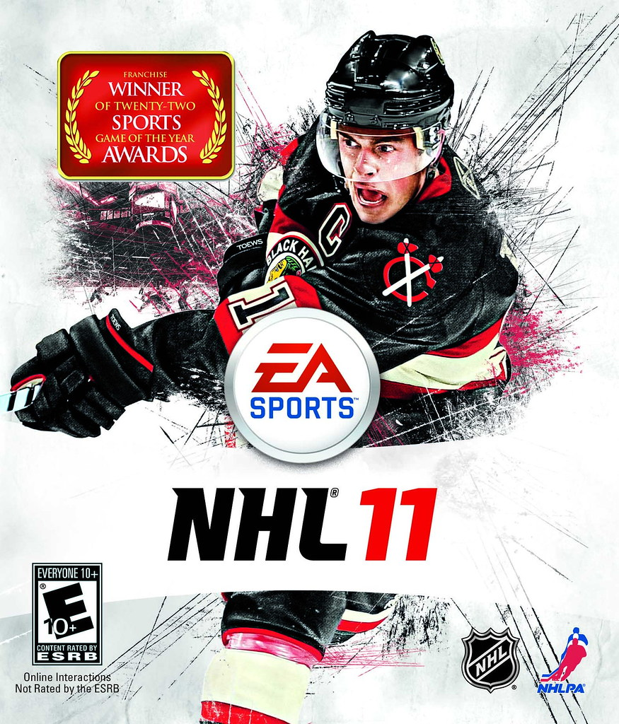 EA Sports NHL 11 Cover Athlete Jonathan Toews