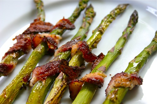 Bacon + asparagus = WIN