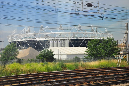 Olympic Stadium from the DLR