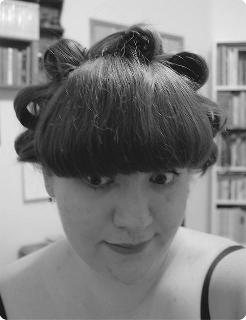 An attempt at standing pincurls