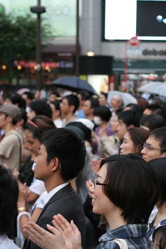 Audiences : Aso Taro ends his speech.