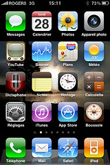 Capture d'écran de mon iPhone roulant iOS4