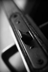 It's not what lies behind the door that I want, it's only the door. (Cristian V.) Tags: door blackandwhite bw dark highcontrast olddoor