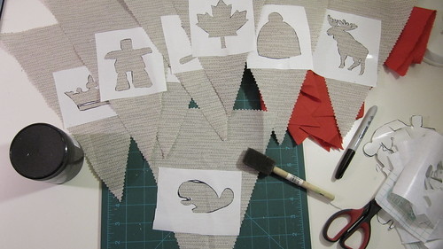 4a. DIY Project: Canada Day Pennant Bunting: Paint Your Stencils
