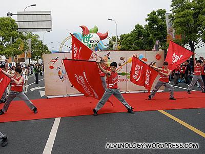 Coca-cola flags
