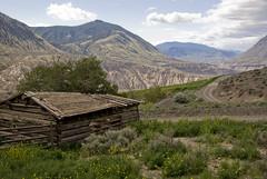 Abandoned Paradise (showbizinbc) Tags: bc canyon fraserriver grasslands sagebrush cariboo oldcabin chilcotin interiorofbc