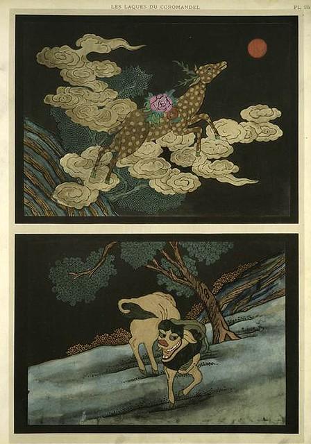 022-Animales-Les laques du Coromandel 1923- Eugene Alain Seguy