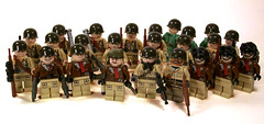 American Army (*Nobodycares*) Tags: lego wwii worldwarii ww2 americans soldiers guns ammo forces worldwar2 allies uas allied brickarms sluban mmcb weirdwarii wierdwar2