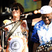 Ron Wood and Buddy Guy at Eric Clapton's Crossroads Guitar Festival at Toyota Park on June 26, 2010 in Bridgeview, Illinois.