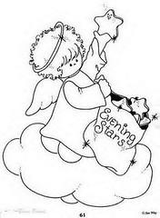 Anjo (Luciana de Campos) Tags: anjos riscos aplicação patchcolagem
