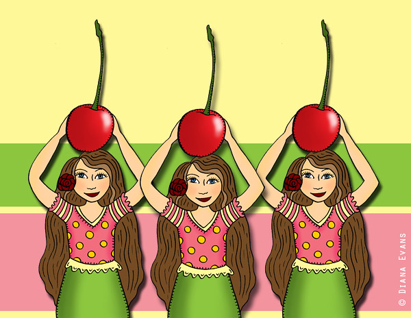 giant cherry triplets
