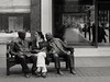 Ménage à trois (Ian Brumpton) Tags: street bw noiretblanc candid roosevelt churchill mayfair ménageàtrois benchlife
