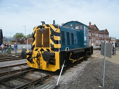 07007 Eastleigh 230509 (Dan86401) Tags: 07007 class 07 br diesel shunter ruston rustonandhornsby rustonhornsby 060 brblue eastleigh works eastleigh100 openweekend class07