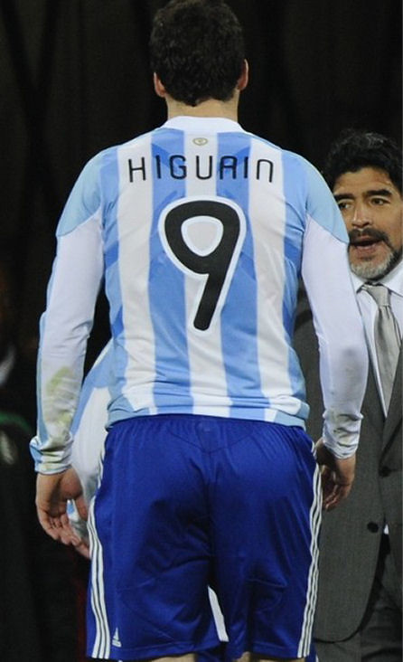 Rear View of Gonzalo Higuain