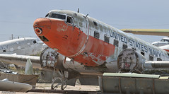 US Navy Douglas C-117 Gooney Bird (Angle-of-Attack) Tags: arizona usa bird airplane arm tucson aircraft aviation scrapyard douglas derelict 2010 c117 gooney