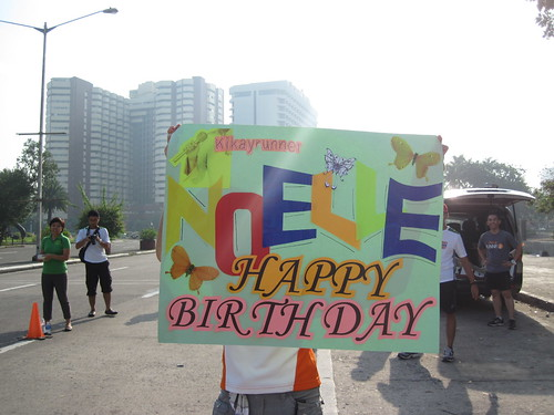 34th Milo Marathon: Birthday Placard