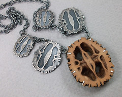 walnut necklace (MetalRiot) Tags: silver necklace walnut sterling crosssection