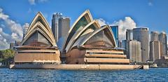 [フリー画像] 建築・建造物, 美術館・博物館・劇場, シドニー・オペラハウス, 世界遺産, シドニー, オーストラリア, パノラマ, 201007100100