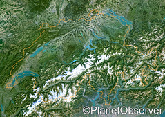Switzerland - Satellite image - PlanetObserver