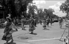 Bolivian Dancers (Fogel's Focus) Tags: 35mm olympus parade 150 f2 acros winnetka om2n 352 r09 legacypro100