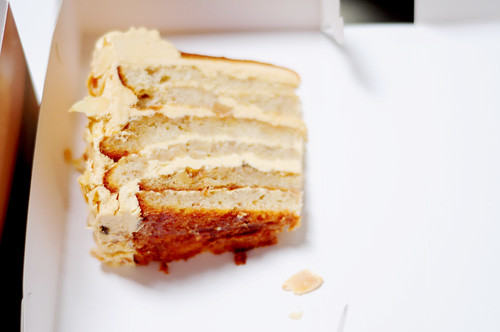 caramel banana cake from ranch market bakery