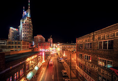 2nd Avenue (Malcolm MacGregor) Tags: city skyline night photoshop buildings cityscape nashville cs2 tennessee hdr tutorial settings photomatix tonemap thechallengefactory thepinnaclehof gettyimageswant tphofweek133