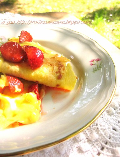 Crepes fragole e crema