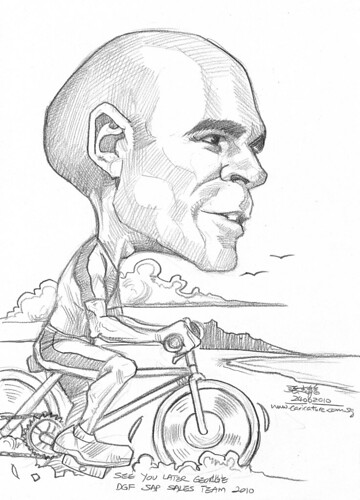 Caricature for DHL - triathelete