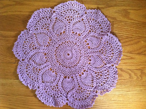 My First Doily - And It's Purple!